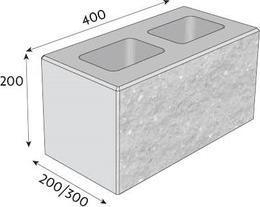 Tvárníce CSB-CSBlok Štípaná roh 20 černá