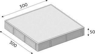 Betonová dlažba CS-BETON FORMELA I tl.5 cm 30x30 cm červená