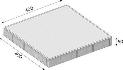 Betonová dlažba CS-BETON FORMELA II tl. 5 cm 40x40 cm červená