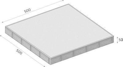 Betonová dlažba CS-BETON FORMELA III tl. 5 cm 50x50 cm javor