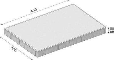 Betonová dlažba CS-BETON FORMELA IV tl.8 cm 60x40 cm šedá