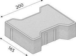 Betonová zámková dlažba CS-BETON KOST tl.6 cm červená 20x165 cm