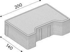 Betonová zámková dlažba CS-BETON KOST kraj tl.8 cm šedá 20x14 cm
