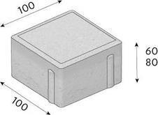 Betonová dlažba CS-BETON Kostka tl.8 cm červená 10x10 cm neskladba