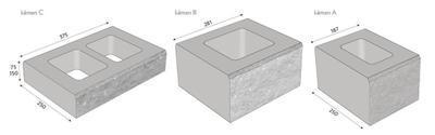 CS-BETON Naturblok EDIT 7,5 cm koncový naturcolor roca