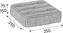 CSBETON Naturblok sloupek půlka 15 cm naturcolor caoba