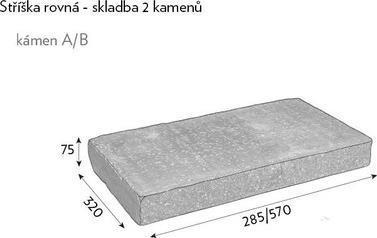 CSBETON Naturblok stříška pár 7,5cm naturcolor basanita