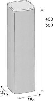 Palisáda CS-BETON VERA 11/11/60 cm hnědá