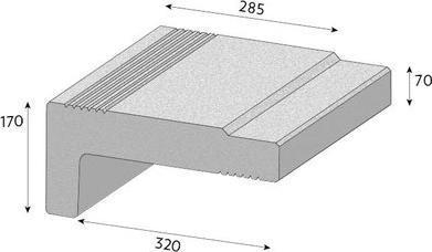 Schodišťový prvek CS-BETON Step 16 cm červená