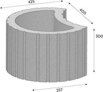 Svahová tvárnice CSB TIESTO 500x357x300 mm javor