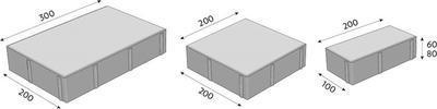 Betonová zámková dlažba CS-BETON VIA TECH tl. 8 cm colormix noarblanc standard