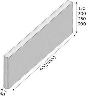 Zahradní obrubník CS-BETON R 20 půlka 50x5 cm okrový