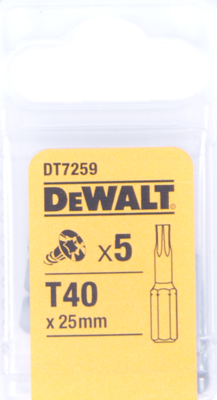 Bit šroubovací Dewalt Torx T40 25 mm 5 ks DT7259-QZ