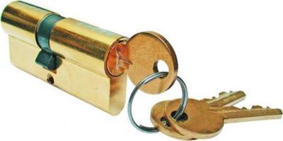 Vložka zámku niklová 65 mm + 3 klíče