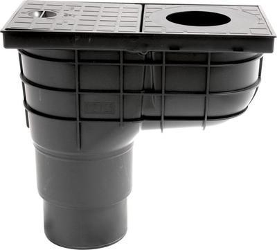 Lapač střešních splavenin Haco LSVU DN 125/110C přímý černý