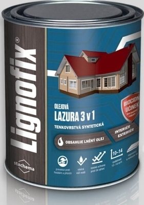 Lazura na dřevo Stachema Lignofix LAZURA 3v1 bílý 0,6 l