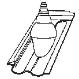 Bramac Granát 11 průchozí taška pro anténu Glazura kaštanově hnědá