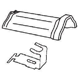 Hřebenáč drážkový Bramac HO + N včetně příchytky Glazura kaštanově hnědá