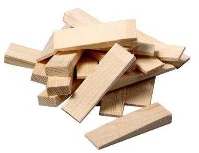 Klínky montážní dřevěné WOODY 80x25x10-3 mm 20 ks