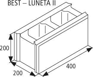 Zdicí tvarovka Best LUNETA II 20 cm žlutá