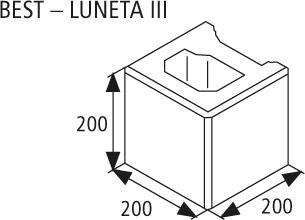 Zdicí tvarovka Best LUNETA III 20 cm žlutá