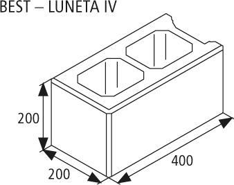 Zdicí tvarovka Best LUNETA IV 20 cm žlutá
