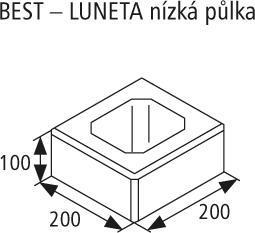 Zdicí tvarovka Best LUNETA 10 cm přírodní nízká půlka