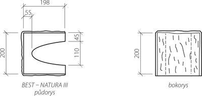 Zdicí tvarovka Best NATURA III 20 cm 20 x 20 cm přírodní koncová štípaná