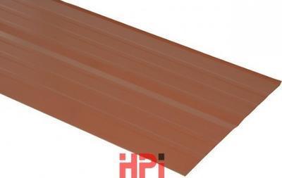 Pás úžlabí AL lakovaný podélně profilovaný HPi 2000x500 mm červená