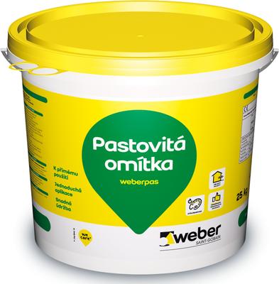 Omítka pastovitá weberpas akrylát 1,5 mm 25 kg