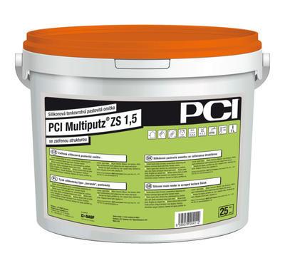 Zatřená silikonová omítka PCI Multiputz ZS 1,5 mm bílá 25kg