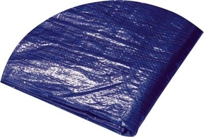 Plachta zakrývací kulatá 6 x 6,5 m 120 g/m² modrostříbrná