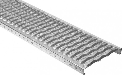 Stoupací plošina rošt 1000x250 mm červenohnědá