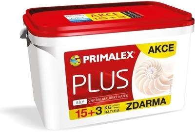 Malba interiérová Primalex Plus 15 kg + 3 kg zdarma AKCE