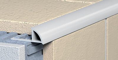 Ukončovací profil Havos s přepážkou - oblý PVC 6 mm 2,5 m světle šedý