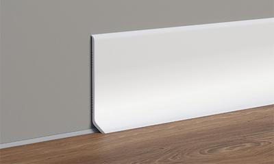 Soklový profil bílý 40 x 2,5 m