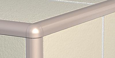 Růžek PVC oblý Havos 6 mm světle šedá