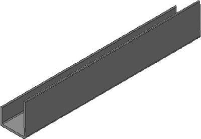Ukončovací PVC profil DK mont 12,5x3000 mm