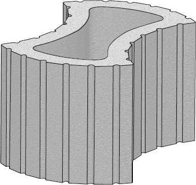 Svahová tvárnice CS-BETON FLORETA 209x500x300 okrová
