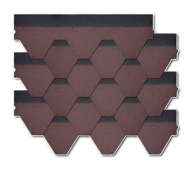 Šindel Hexagonal Dehtochema červený