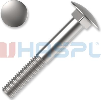 Šroub vratový M6x60 ZB DIN 603 4.8 200 ks