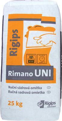Hlazená sádrová omítka Rigips Rimano UNI 25 kg