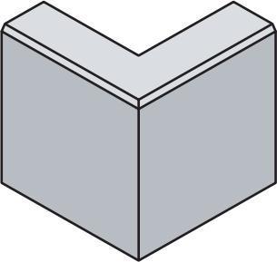 Betonový zahradní obrubník Best LINEA II rohová 90 vnější v.25 cm přírodní