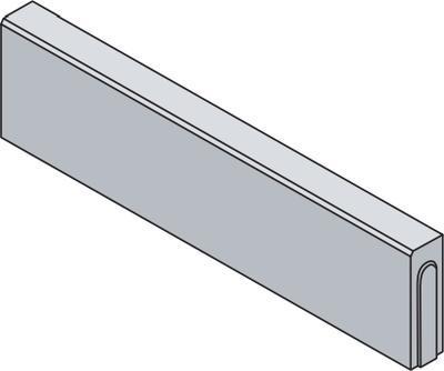 Betonový zahradní obrubník Best LINEA II v.25 cm 100x8 cm červený