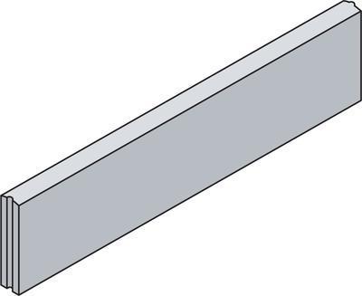Betonový zahradní obrubník Best PARKAN II v.20 cm 100x5 cm antracit