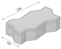 Betonová zámková dlažba CS-BETON VARIO tl.6 cm šedá