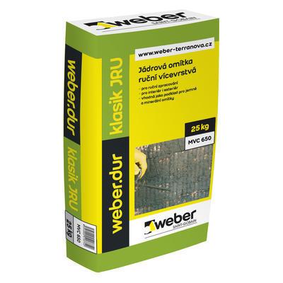 Weberdur klasik JRU jádrová omítka 2 mm 25 kg
