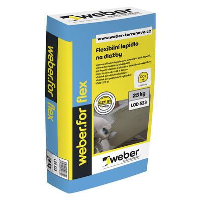 Weberfor flex Flexibilní lepidlo na obklady a dlažby 25 kg