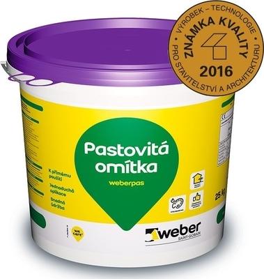 Omítka pastovitá weberpas aquaBalance 2 mm 25 kg