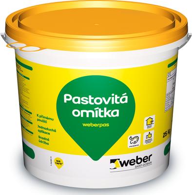 Omítka pastovitá weberpas extraClean 2 mm 25 kg